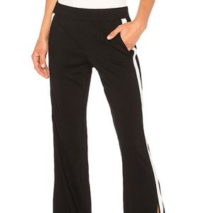 Pam & Gela Black and White Wide Leg Trackpant XS